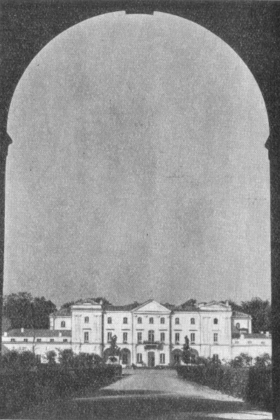 Białystok - Widok z bramy wjazdowej na Pałac Branickich